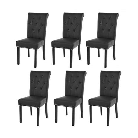 lot de 6 chaises de salle 224 manger design marron pieds