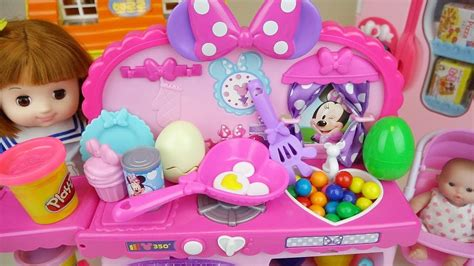 Baby Doll And Play Doh Kitchen Food Surprise Toys Babyd