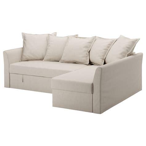 holmsund corner sofa bed nordvalla beige ikea