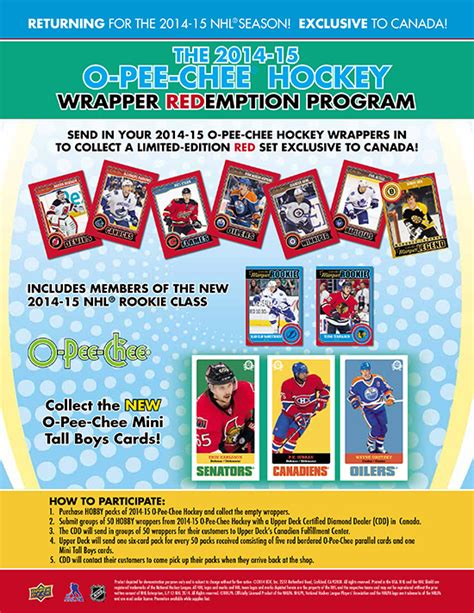 deck s 2014 15 nhl 174 o chee wrapper redemption