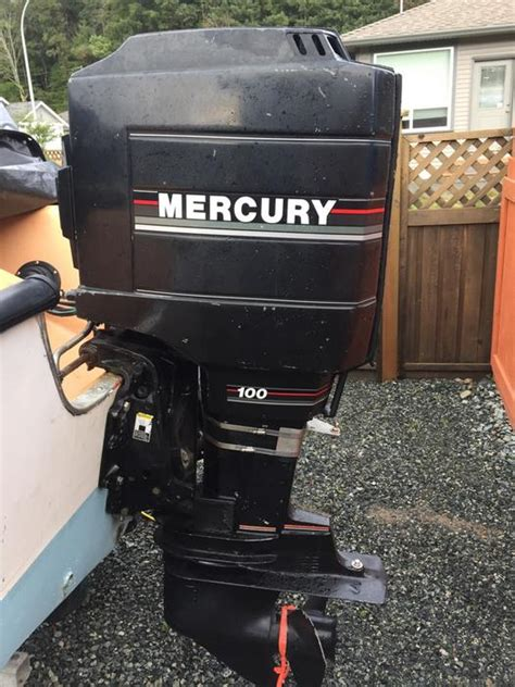 Mercury Outboard Motors Victoria by Mid 1980 Mercury 100 Hp Outboard Motor Outside Victoria