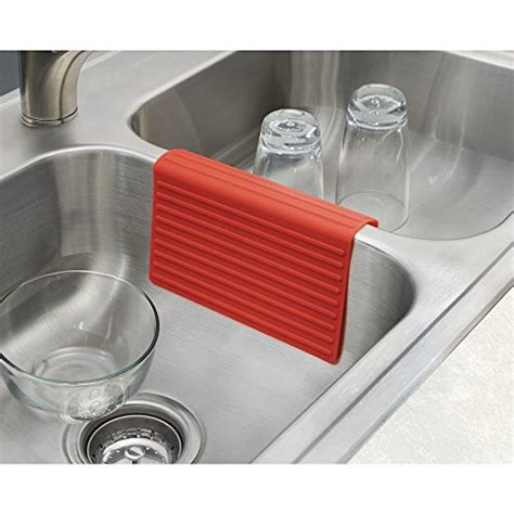 mdesign silicone kitchen sink protector mat and divider set of 2 new ebay