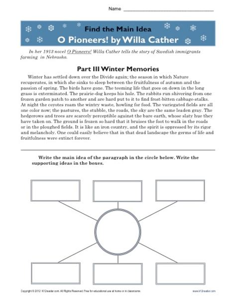 Central Idea Worksheets For High School Central Best Free Printable Worksheets