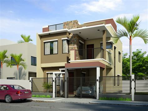 3 Floor Home Design :  Breathtaking Double Storey Residential House