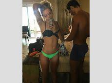 Louisa Johnson flashes her incredibly taut abs in bikini