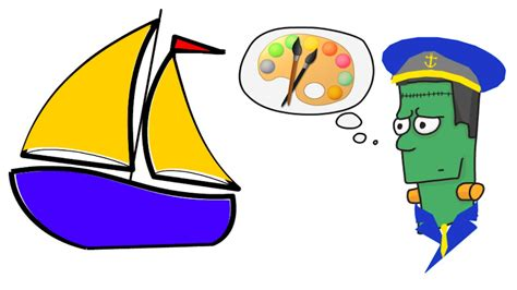 How To Draw A Cartoon Boat Step By Step by How To Draw A Cartoon Sail Boat Step By Step Youtube