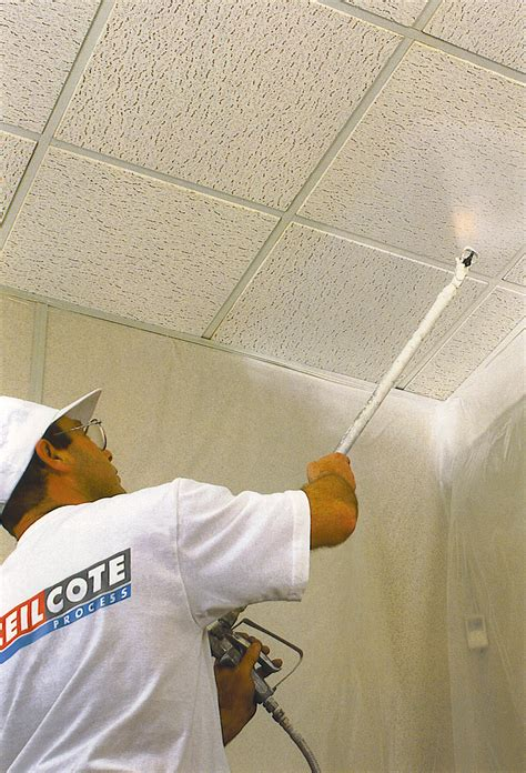 ceiling spray painting by ceilcote ceilcote paint spraying services cambridge void spraying uk