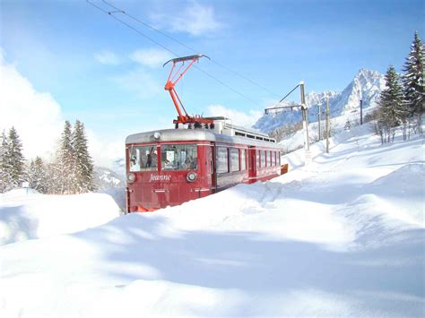 the mont blanc massif railroads cableways for an easy access to the best panorama