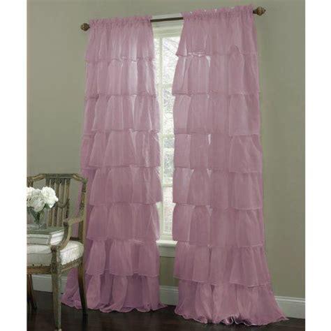 purple shabby chic ruffled curtains purple bedroom ideas