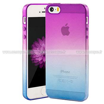 coque apple iphone 5s degrade silicone gel housse pourpre