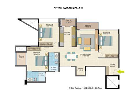 4bhk apartment for sale in kanakapura road bangalore at nitesh caesars palace apartment in