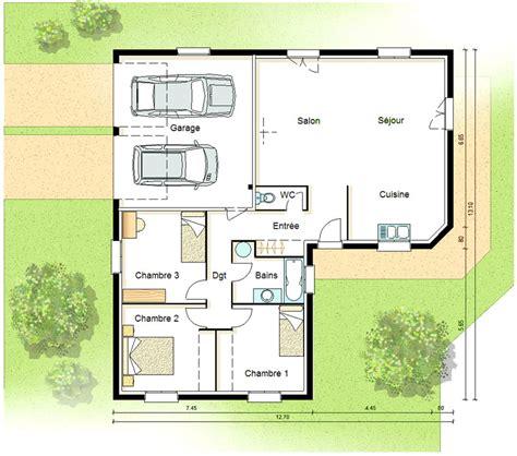 plan maison plain pied plans pour construire sa maison