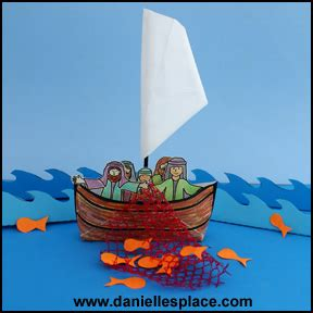 First String Fishing Boat by Miracles Sunday School Crafts And Activities