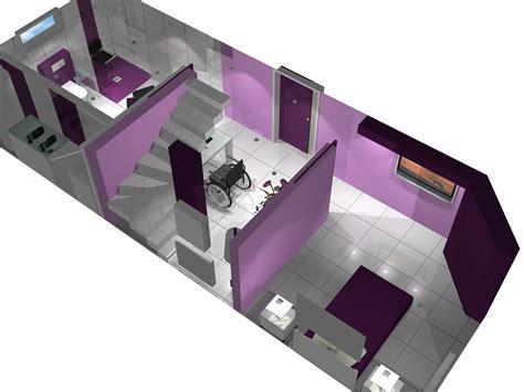vue en 3 dimensions d une salle d eau design et adapt 233 e pour une pmr salle de bain pour les
