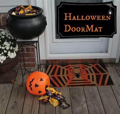 Halloween Diy Spider Web Doormat  See Vanessa Craft