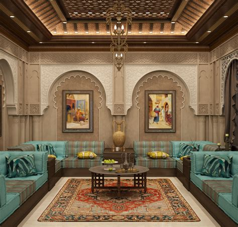 Luxury Moroccan style, Villa in Dubai  ARTISTO INTERIORS