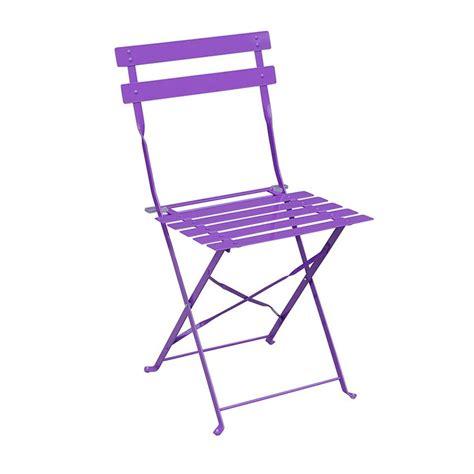 lot de 2 chaises de jardin pliantes camargue violet chaise et fauteuil de jardin eminza
