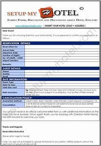 Hotel Booking Confirmation Letter Sample | Sample Hotel ...