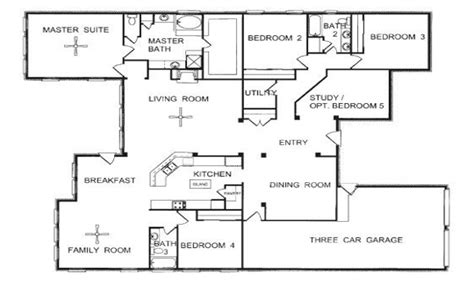open one story house plans one story house plans with 3 story townhome floor plans one story open floor house
