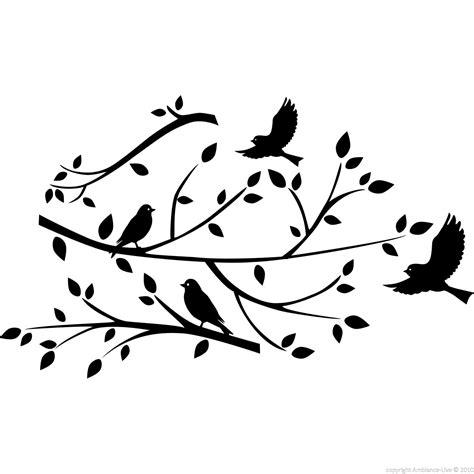 sticker branche d arbre et oiseaux stickers nature arbres ambiance sticker
