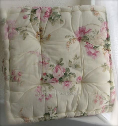 dining room chair pad cushion shabby pink roses chic ebay