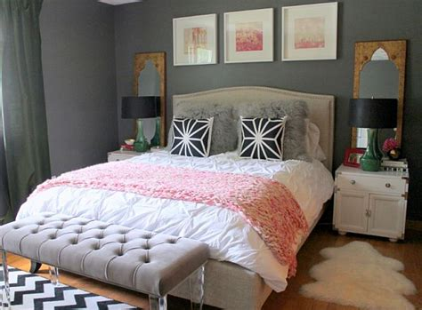 Bedroom Ideas For Young Women Grey Bed Grey Bed Bench
