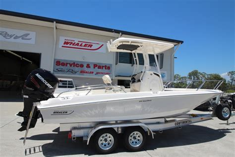 Boats Online Aussie Boat Sales by New Boston Whaler 210 Dauntless Centre Console Trailer
