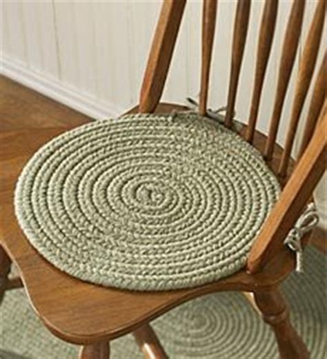 wool blend braided chair pad home kitchen