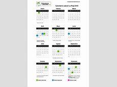Calendario Laboral Rioja La 2019