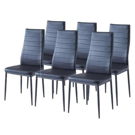 sam lot de 6 chaises de salle 224 manger noires achat