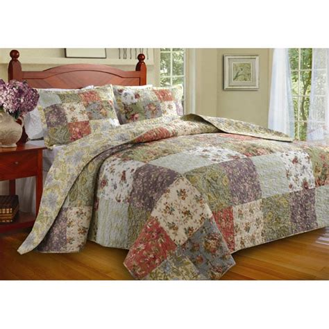 blooming prairie king size 3 bedspread set overstock shopping great deals on bedspreads