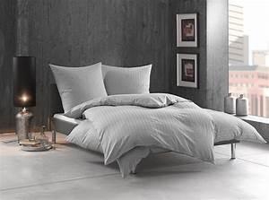 Bettwäsche Grau Weiß Gestreift : bettw sche gestreift tira grau bettwaesche mit stil ~ Markanthonyermac.com Haus und Dekorationen