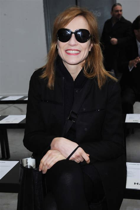 stefania rocca in costume national homme milan fashion week menswear a w 2011 zimbio