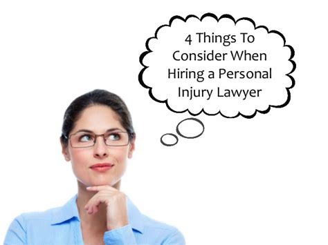 4 Things To Consider When Hiring A Personal Injury Lawyer