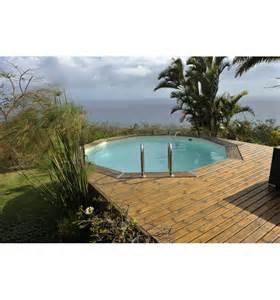 piscine hors sol ronde maeva 500 en bois finition haute qualit 233