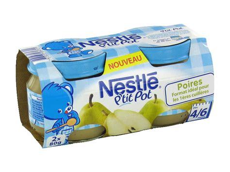 petits pots nestle poires 4 6 mois 2x80g tous les produits desserts aux fruits prixing