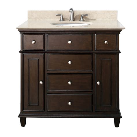 Avanity Windsor 36 inches Bathroom Vanity in walnut finish
