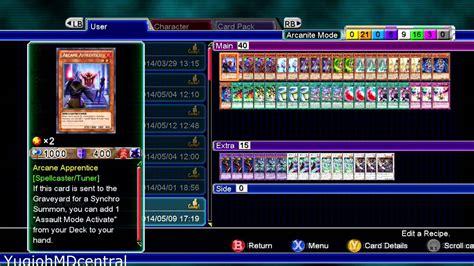 yu gi oh md millennium duels arcanite magician assault mode deck recipe
