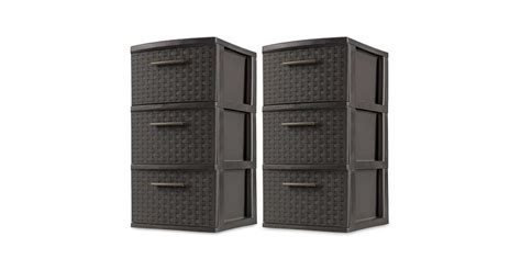 Sterilite 3 Drawer Wicker Weave Decorative Storage Tower, Espresso (2 Pack) Black Faux Leather Double Bed With Drawers 3 5 Drawer Pulls 2 Aristo Burnt Grey 6 Chest Replacement Wheels For Kitchen Micke Dimensions 9 Dressers Canada Sentry Fireproof Safe Diy Liner Paper