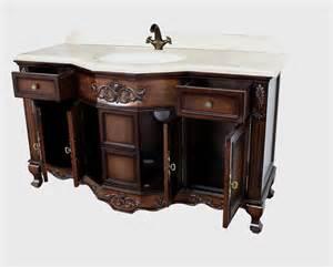 montage antique style bathroom vanity single sink 60 quot