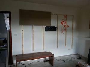 Tv An Wand Anbringen : tv wand wohnwand gebaut ~ Markanthonyermac.com Haus und Dekorationen