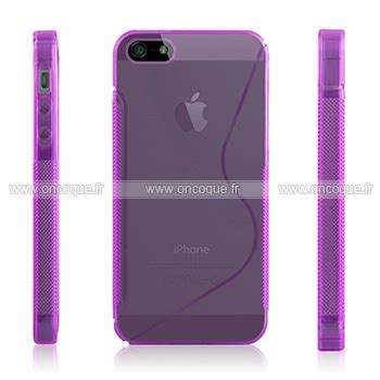coque apple iphone 5s s line silicone housse gel pourpre