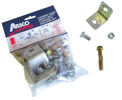absco garden shed concrete anchor kit set of 8 ebay