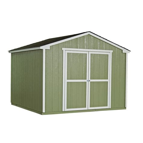 shop heartland liberty gable engineered wood storage shed common 10 ft x 12 ft interior