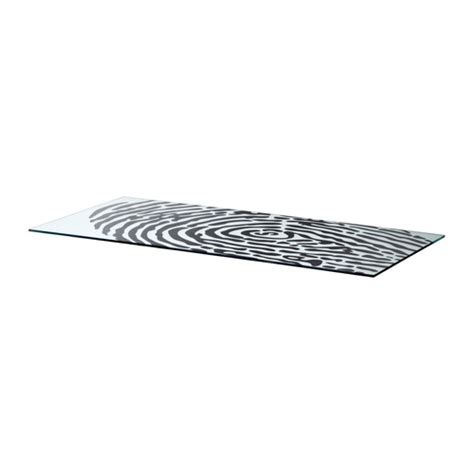 glasholm plateau pour table verre motif empreinte digitale ikea