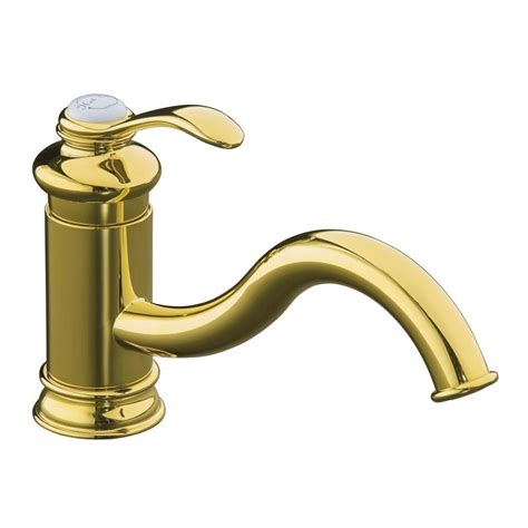 kohler fairfax single handle standard kitchen faucet without escutcheon in vibrant polished
