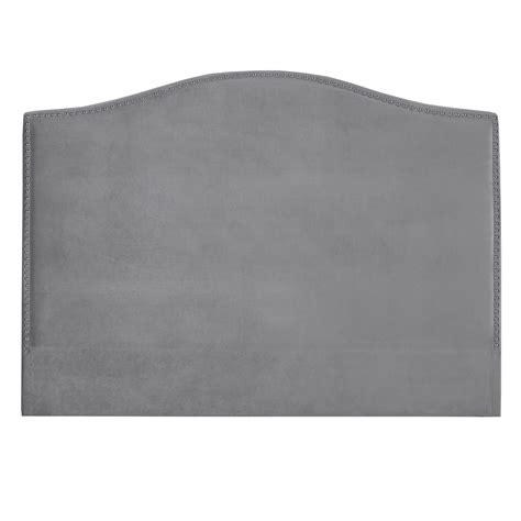 grey velvet king headboard xcella