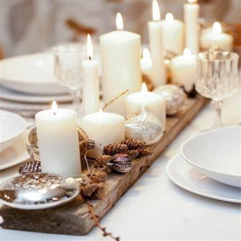 centre de table bois avec bougies comme deco noel