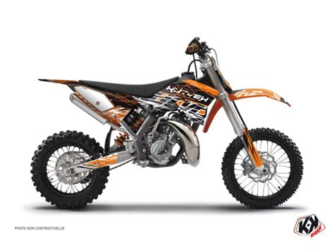 kit d 233 co moto cross eraser ktm 50 sx orange noir kutvek kit graphik