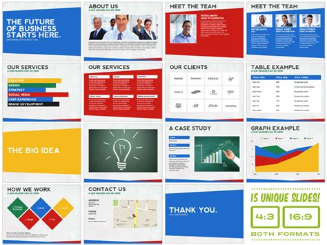 universal pitch deck ten powerpoint presentation templates on creative market